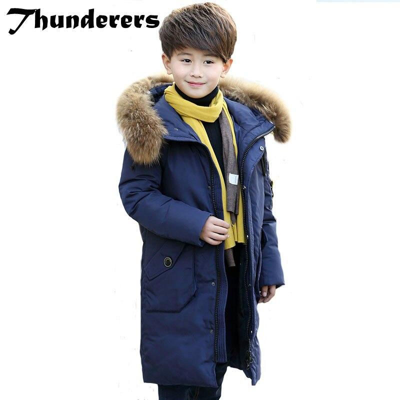 Vêtements d'hiver de nouveaux enfants vers le bas veste garçons et les filles vers le bas veste épaisse vers le bas veste tendance manteau