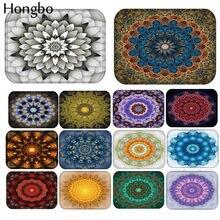 Hongbo-Felpudo de bienvenida con flor Bohemia, alfombra con patrón geométrico de Mandala para baño y cocina, alfombra Floral