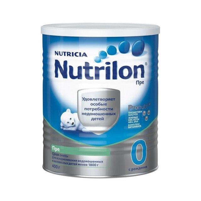 """Нутрилон Пре 0 - специальная молочная смесь """"PronutriPlus"""" для недоношенных детей,  0-12 мес., 400 г (Срок годности до 2019.08.27)"""