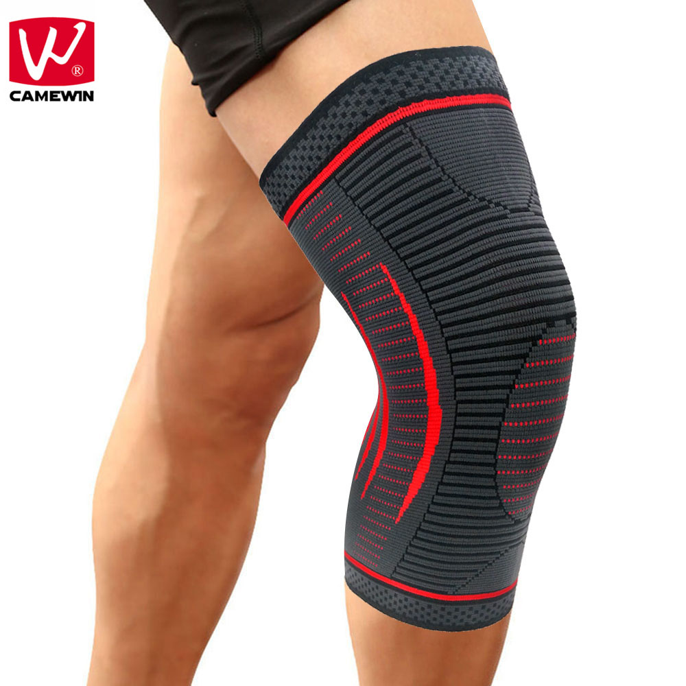 CAMEWIN 1PCS Compression Knee Sleeve,Knee Brace Support for Sports,Running,Jogging,Joint Pain Relief,Arthritis & Injury Recovery camewin 1 pcs knee brace knee support for running arthritis meniscus tear sports joint pain relief and injury recovery