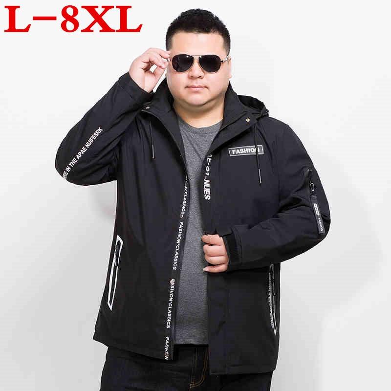 8XL 7XL grande taille Printemps Automne Hommes décontracté sweater à capuche camouflage Veste Hommes Vêtements Imperméables Pour Hommes Coupe-Vent Manteau vêtements pour hommes