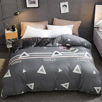 1 pcs Winter warm soft thicken AB multi function quilt cover A side coral velvet B side pure cotton duvet cover 220x240cm