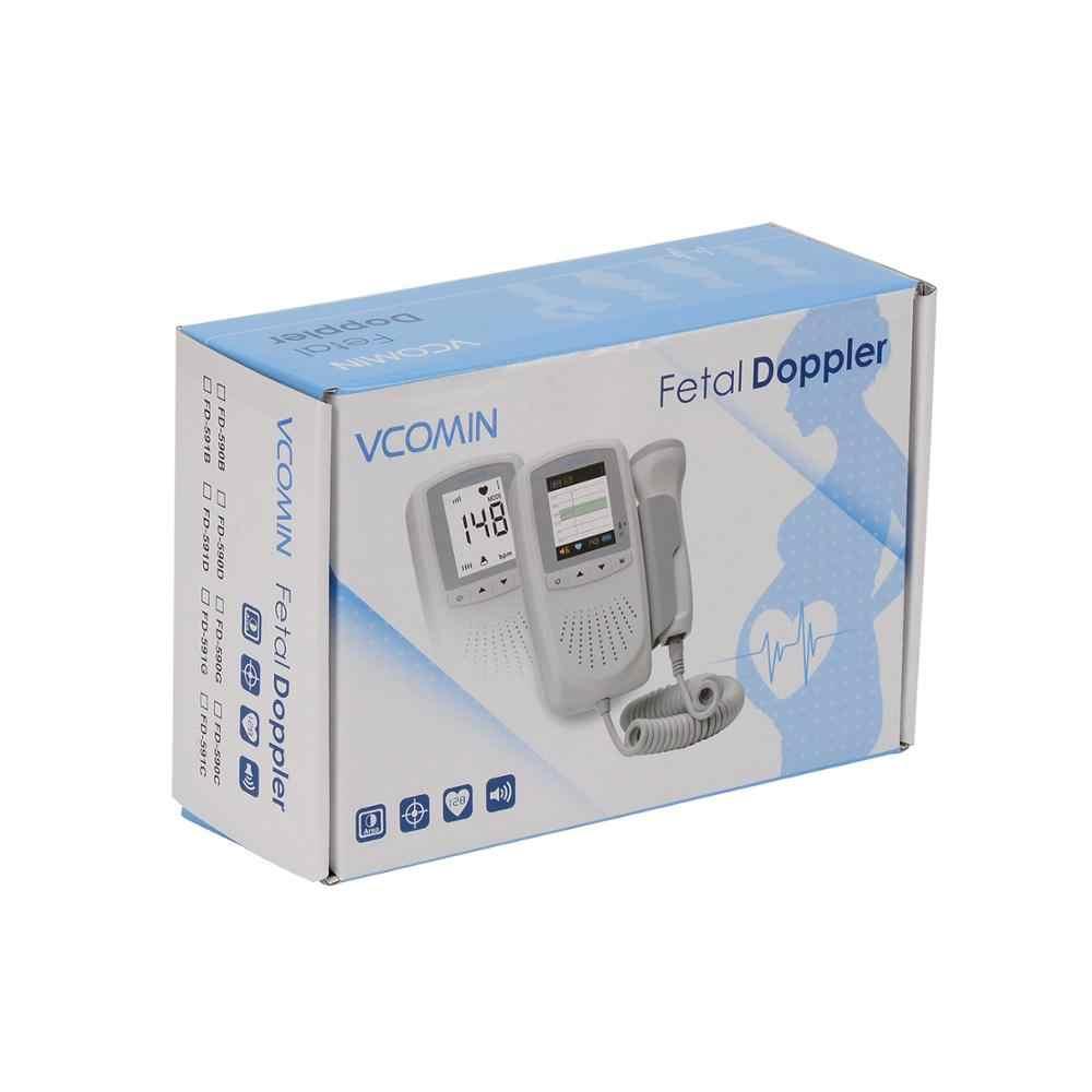 Vcomin Fetal Doppler Tangan Memegang Saku Portabel Suara Bayi Jantung Kehamilan USG Janin Doppler Mesin Detektor Monitor Mobil