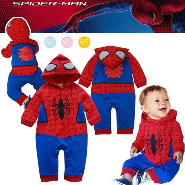 Bebê recém-nascido meninos Romper Spiderman longo de manga curta roupas de bebê meninos meninas macacão de bebê roupas de Halloween dos desenhos animados caçoa o presente