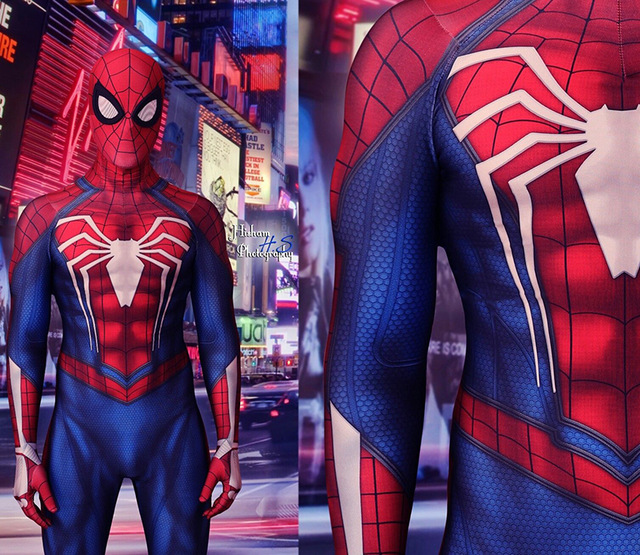 Newest insomniac ps4 spiderman costume Spandex Games TASM The Amazing Spiderman Cosplay Suit Homecoming Spider man