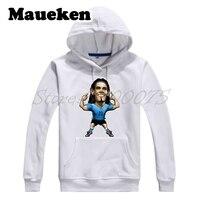 Men Hoodies Edison Cavani 21 Uruguay Star Sweatshirts Hooded Thick Comic Cartoon Autumn Winter W17120228