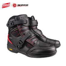 SCOYCO Motorfiets Laarzen Mannen Waterdichte Moto Laarzen Leather Motocross Off-Road Racing Laarzen Biker Riding Schoenen MT020WP(China)
