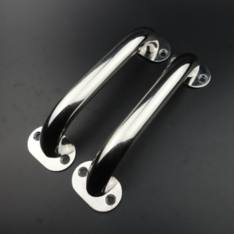 1 Piece Stainless Steel Polish Oval Boat Grab Handle Oval Handrail Fastener 1//4/'
