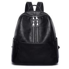 Fashion Women Backpack Youth High Quality Leather Backpacks for Teenage Girls Female School Shoulder Bag Bagpack Solid Color Boo laamei women shoulder bag purse small solid color women backpacks female school bags for teenage girls backpack fashion 3pcs set