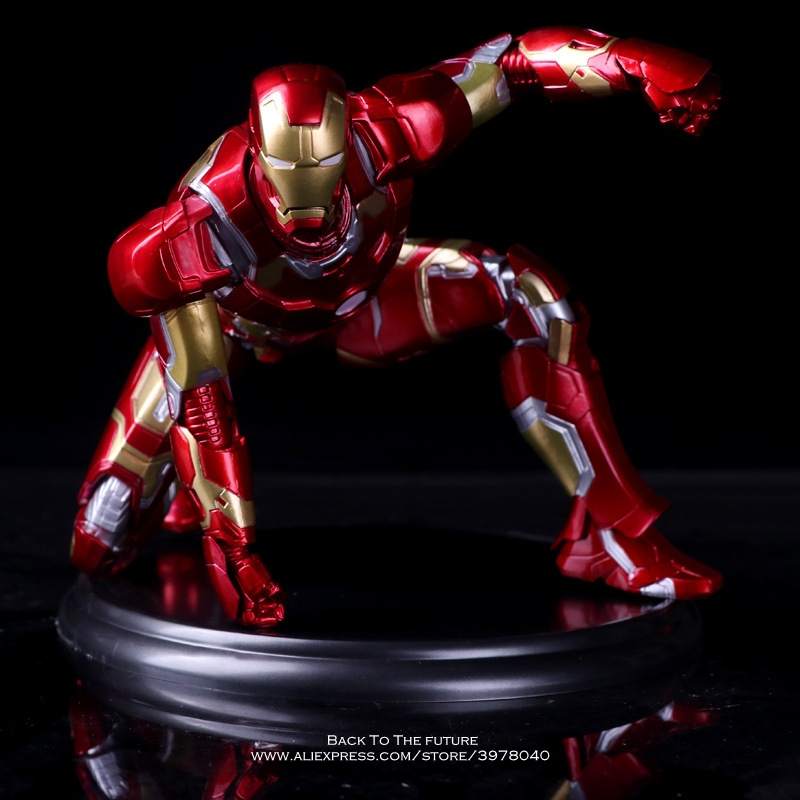 Disney Marvel Avengers Iron Man 3 17cm Action Figure Anime Mini Decoration PVC Collection Figurine Toy