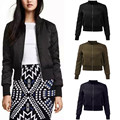 ZANZEA 2017 Autumn Winter Women Warm Basic Coats Bomber Jackets Cool Quilted Long Sleeve Slim Jacket Casual Padded Short Outwear