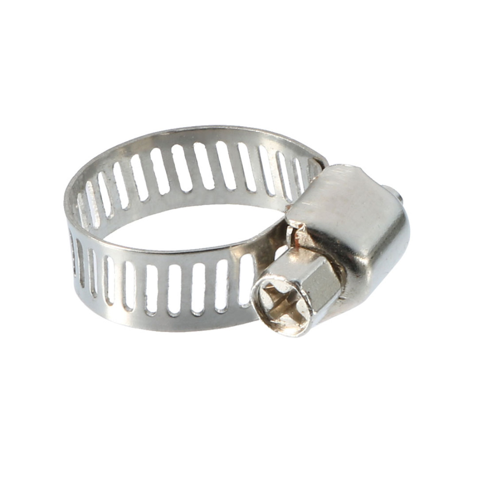 Hardware Brackets & Clamps Popular Brand Uxcell 1 Pcs Stainless Steel Hose Pipe Clamps 6-12mm Range Adjustable Silver Tone Ideal For Industrial Or Home Use Chills And Pains