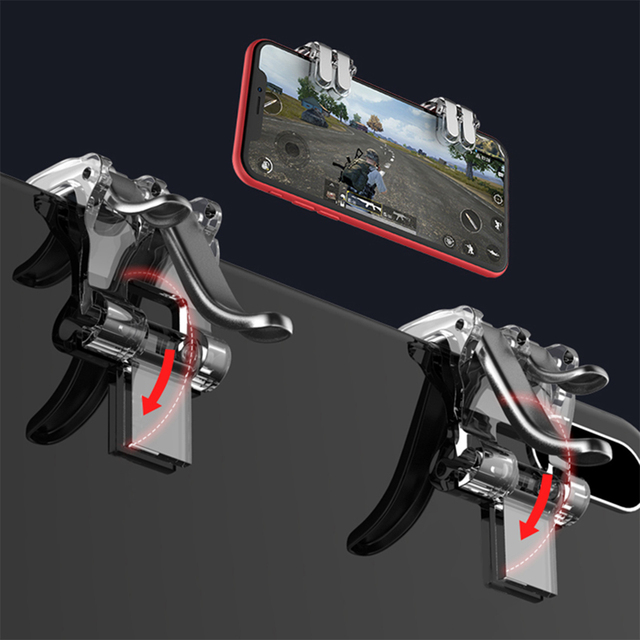 Six Opeartion Game pad L1R1 Controller Aim Key R11S Gaming Shooter Joystick Portable Smart Phone Holder For iPhone Xiaomi Huawei