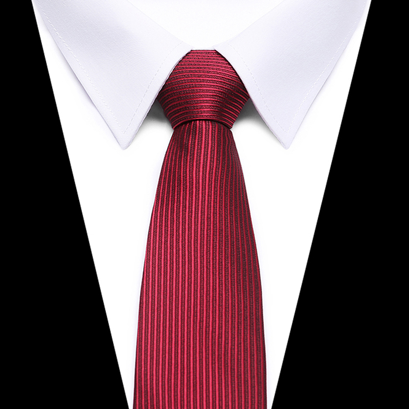 High Quality 2018 New Ties For Men 8CM Gravata Slim Black Red Necktie Men's Ties Mens Neckties Silk Narrow Skinny Tie Men SALE