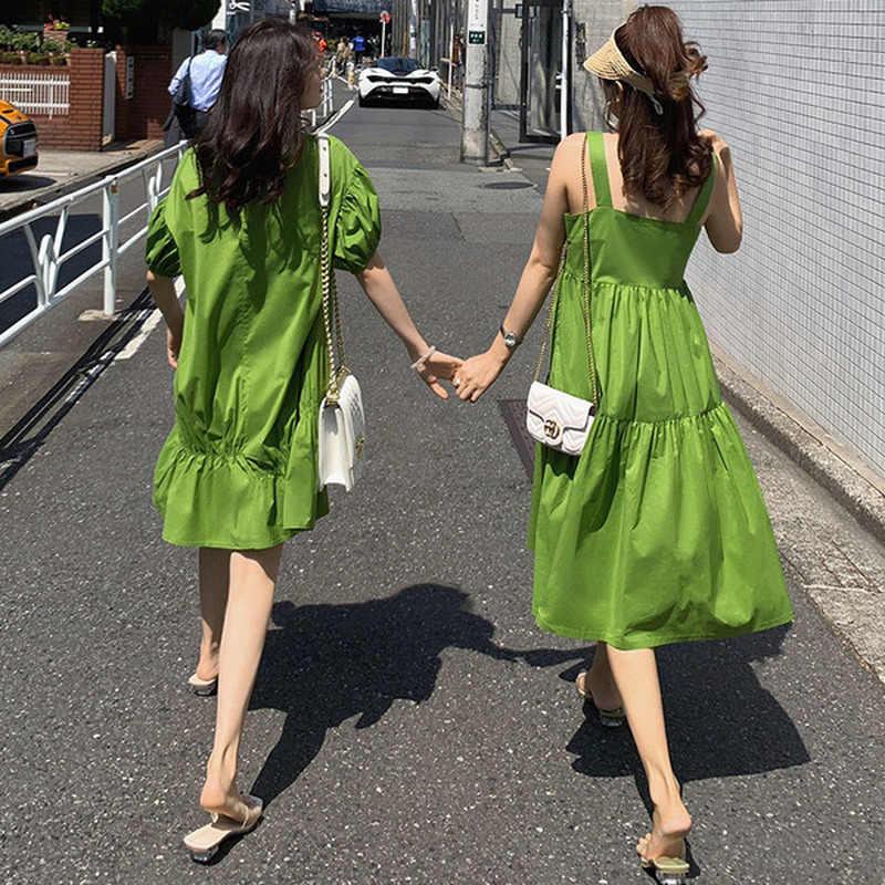 Летние фрукты зеленый сладкий Pregnncy платье Одежда для беременных для женщин Лето 2019 г. подруги костюм Свободная одежда для беременных