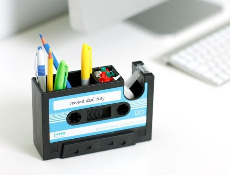 High quality retro tape box pen holder desktop stationery lockers multifunctional creative pen holder Gift decoration stationery стоимость