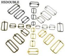 10 sztuk/paczka metalowe prowadnice tri-glides formowane drutem rolki Pin klamry pasek suwak regulator klamry