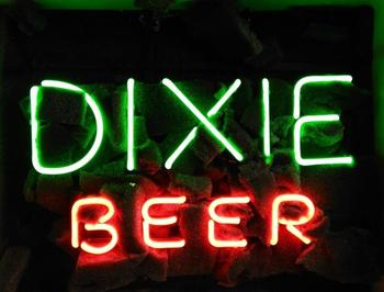 Custom DIXIE Glass Neon Light Sign Beer Bar