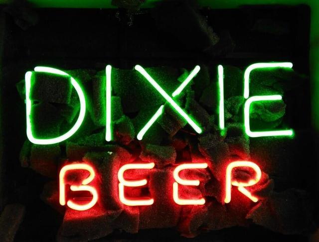Custom DIXIE Glass Neon Light Sign Beer Bar