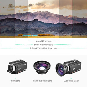 Image 4 - 30mm 37mm 0.39X Lens Full HD geniş açı makro Lens için Ordro Andoer dijital Video kamera kamera