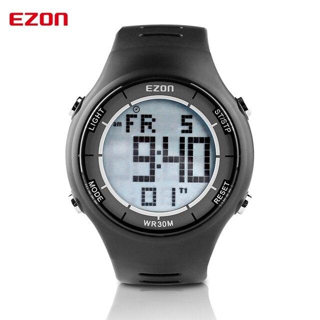 EZON Модный Бренд Мужчины Женщины Спортивные Часы Отдыха Ультра-тонкий Цифровой Спортивные Часы 30 М Водонепроницаемый Сигнализации Секундомер Наручные Часы