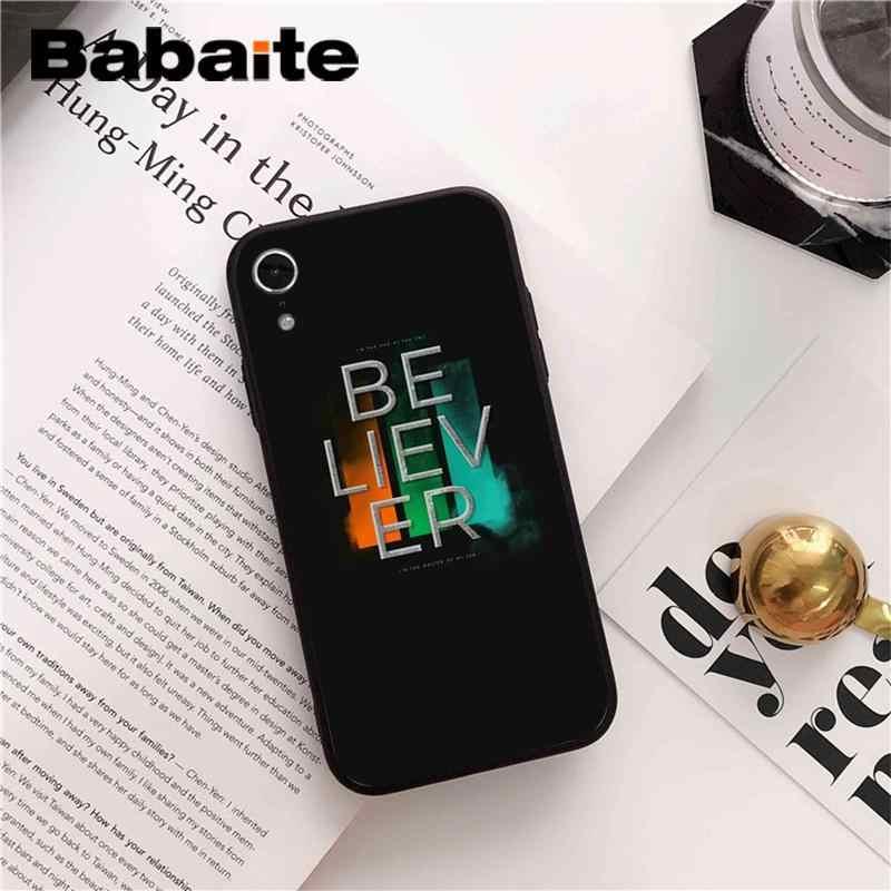 Babaite imagine dragons TPU funda de teléfono de silicona suave para iPhone 8 7 6S Plus 5 5S SE XR X XS X MAX Coque Shell