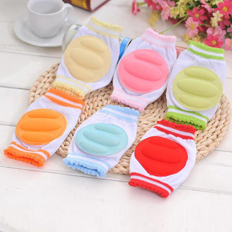 1 Pair Baby Knee Pads Protector Kids Children Safety Crawling Elbow Cushion Infants Knee Pads Protector Leg Warmers Baby spakct cycling bike children elbow pads knee pads silicone gel elbow protect cover sport safety pulley bicycle knee pads support