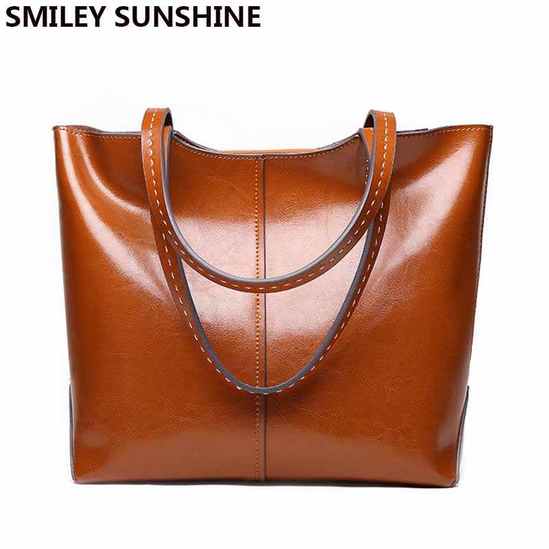 High Quality Female Genuine Leather Shoulder Bags Fashion Luxury Women Leather Handbags Big Capacity Ladies Purses