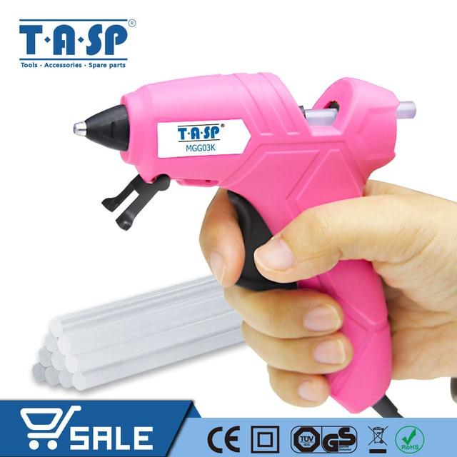 TASP 220 В 12 (70 Вт) термоклеевой пистолет высокая температура плавления Repair Tool Kit + 10 шт. 7 мм клеевые палочки для Craft Projects-MGG03K