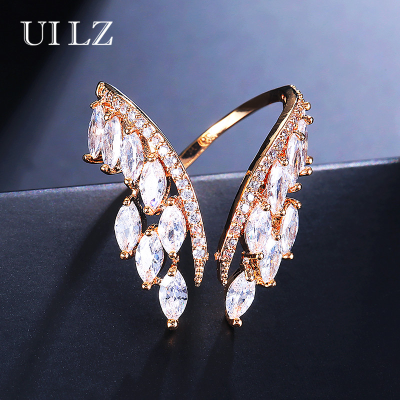 UILZ Trendy Women Jewelry Handmade Cubic Zirconia Butterfly