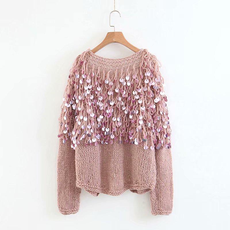 TEELYNN Boho women cardigan sweater 2018 winter sequins glitter long sleeve  mohair coat Casual knitted women sweaters outwear. 1 2 4 12 ... e7af090dcf94