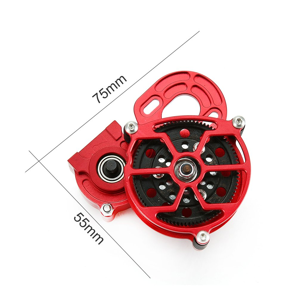1 10 RC Car Truck Full Metal Assembled Transmission Gearbox Tranny With Straight Gear for AXIAL SCX10 D90 Car in Parts Accessories from Toys Hobbies