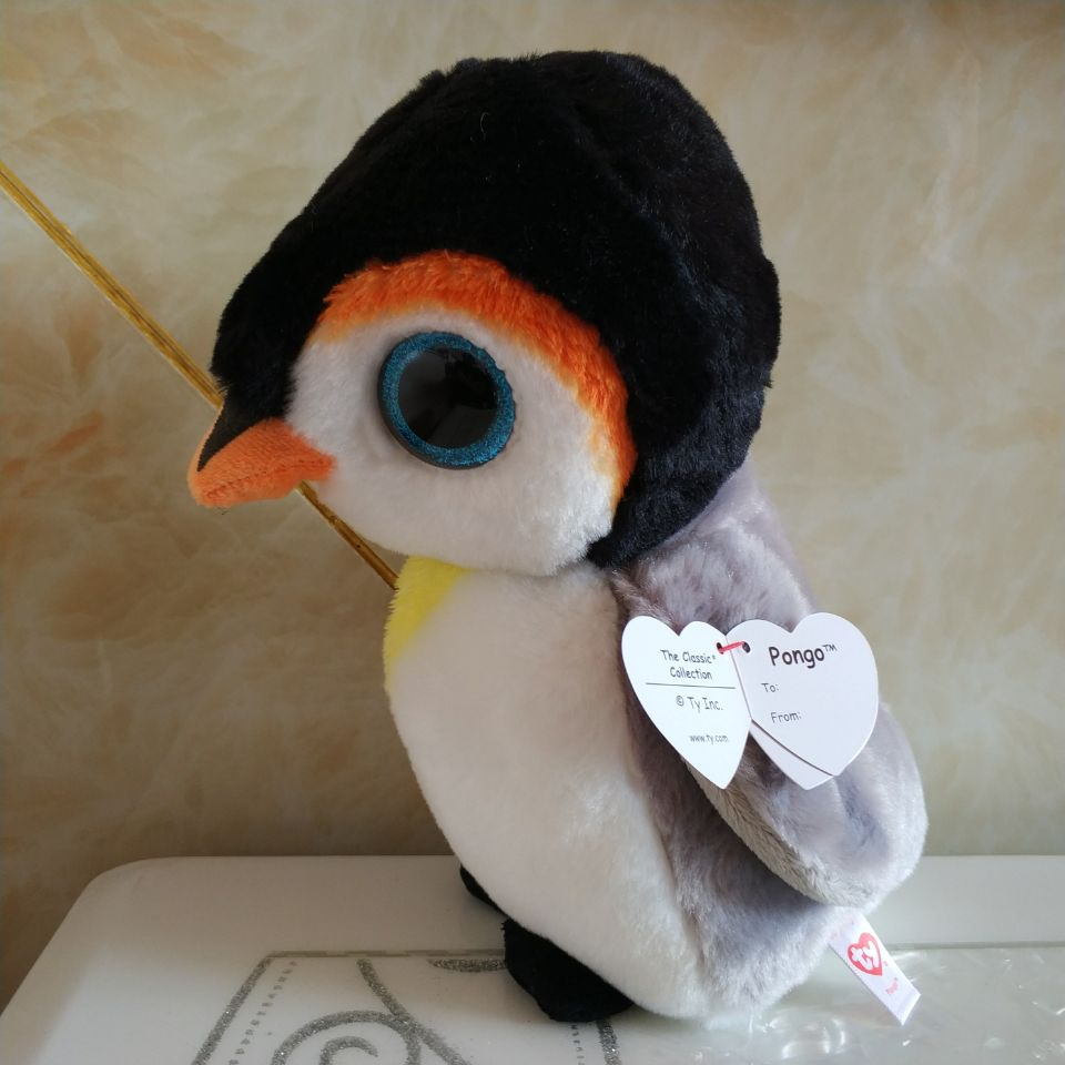 5c89c04a30c pongo penguin 25cm 10 inch Ty classic Plush Toy Stuffed Animal Soft Kids Toy  Christmas Gift Hot Sale -in Stuffed   Plush Animals from Toys   Hobbies on  ...