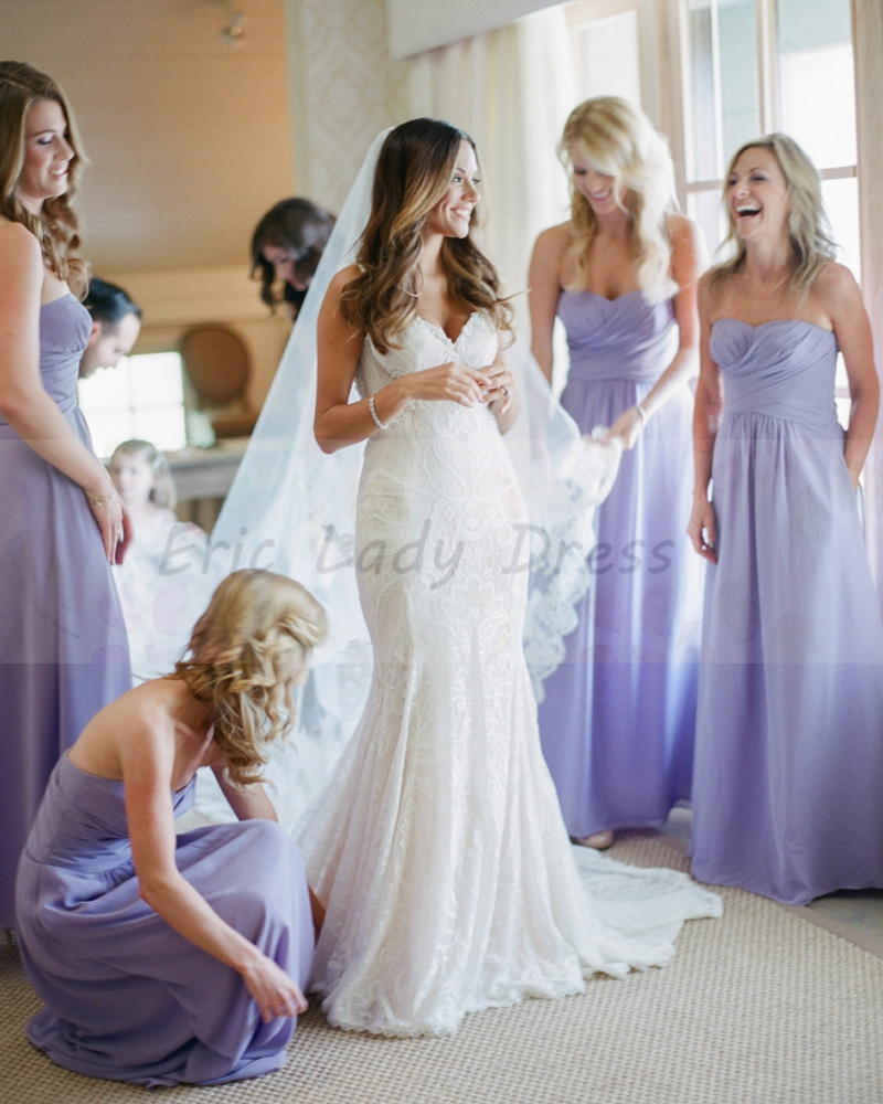 Long lavender bridesmaid dresses sweetheart strapless a line long lavender bridesmaid dresses sweetheart strapless a line bridesmaid dress 2015 chiffon vestido madrinha wedding party dress in bridesmaid dresses from ombrellifo Image collections
