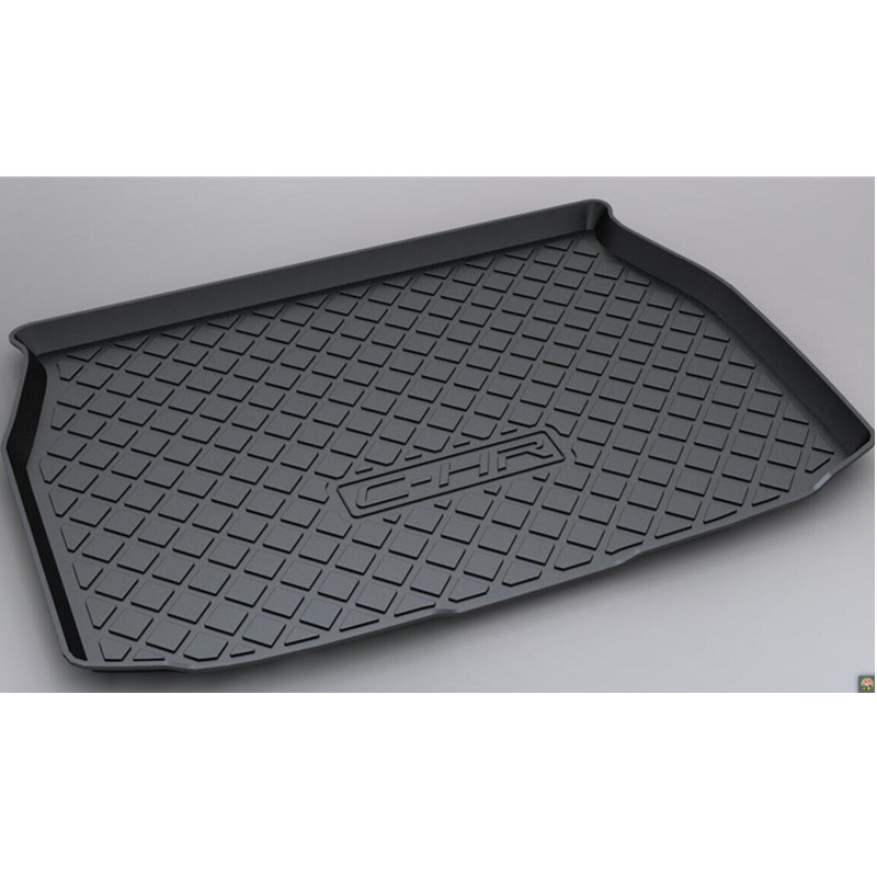 где купить 1PCS Black Inner Rubber Rear Trunk Boot Mat Carpet For Toyota C-HR CHR 2016-2017 дешево