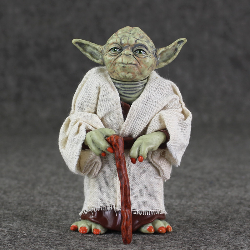 12cm Star Wars Jedi Knight Master Yoda Action PVC Figure Collection Toys For Christmas Gift star wars jedi knight master yoda pvc action figure collectible model toy doll gift 12cm kt2029