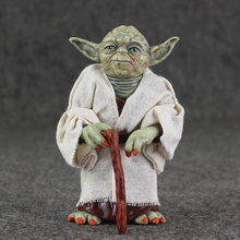 12cm Star Wars Jedi Knight Master Yoda Action PVC Figure Collection Toys For Christmas Gift