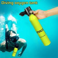 0.5l Mini Hand Pump Oxygen Tank Portable Air Bottle Diving Breath Equipment