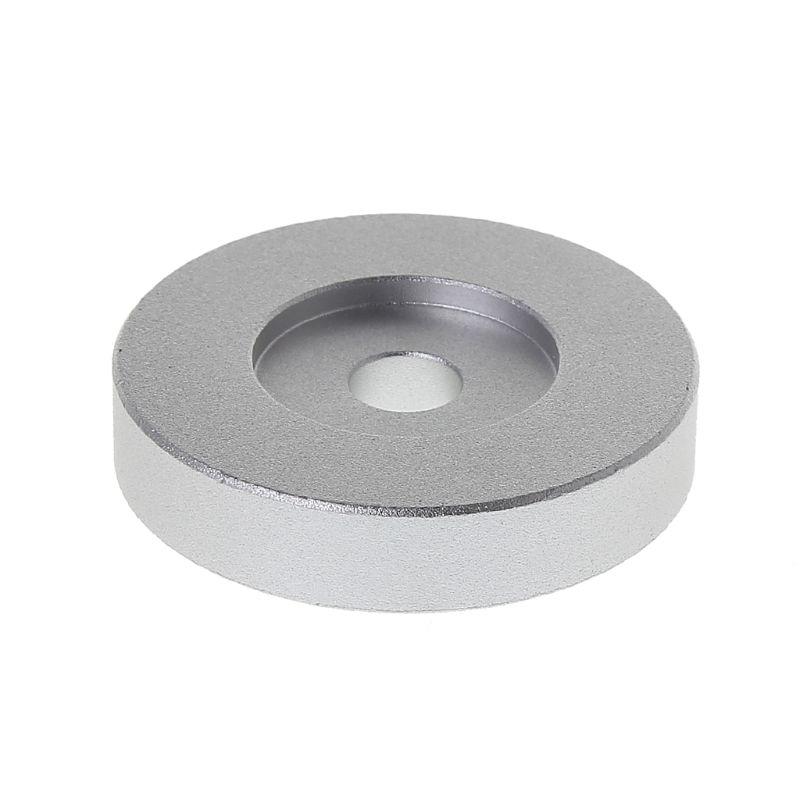 "Record Turntable Adapter 45 RPM Aluminum Silver For 7"" Vinyl Technics SL1200 Series"