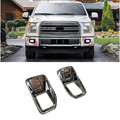 ABS Chrome Front Outer Fog Light Lamp Bezel Cover Trim Decor For Ford F150 F-150 2015 2016