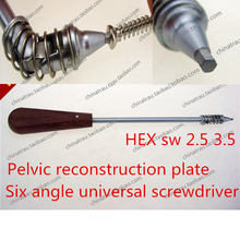 Medical orthopedic instrument Pelvic reconstruction Arc semicircle bone plate universal screwdriver 360 degree turn Extractor AO