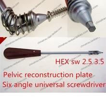 Medical orthopedic instrument Pelvic reconstruction Arc semicircle bone plate universal screwdriver 360 degree turn Extractor AO