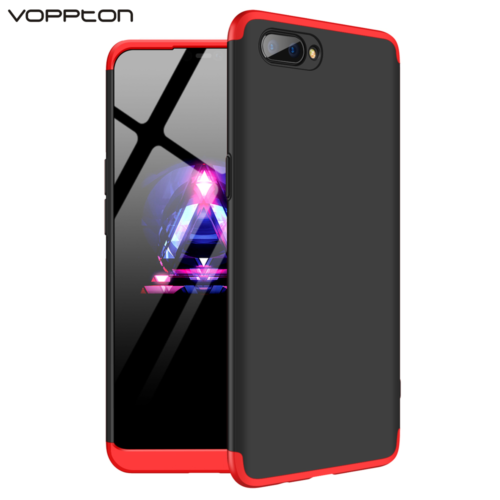 360 Full Protection Case For OPPO A3s A5 Cover Case Luxury Hard PC 3 In 1 Back Cover For OPPO A3S A5 Armor Coque Capa
