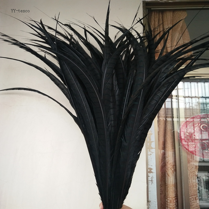 10pcs 36 40inch 90 100cm natural Lady Amherst Pheasant Feather black pheasant feathers for carnival party