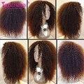 Brasileño de la virgen Afro Rizado Rizado U Parte Peluca de Cabello Humano 130-150Density Upart Wigs12-26Inch Anypart Moda Para Las Mujeres Negras
