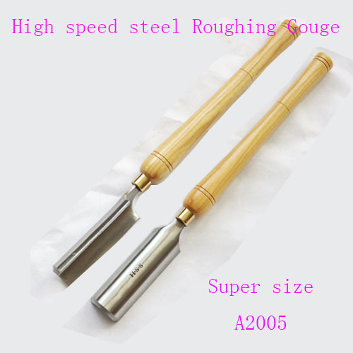 High speed steel woodworking tools Super size Roughing Gouge chisels for woodcarving A2005