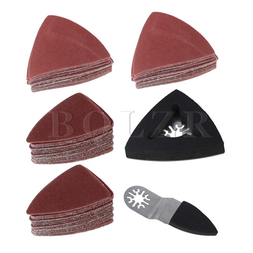 Universal Finger Triangular Sanding Pad Sanding Paper Set of 102 цена