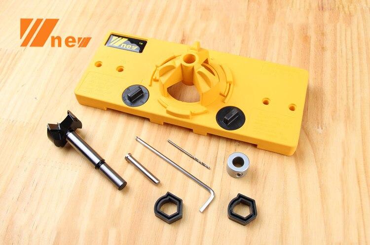 35mm Hinge Drilling Jig with 35mm Forstner Bit цена 2017