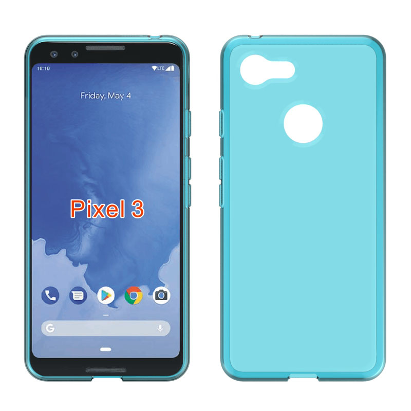 Skid-Proof Soft TPU Transparent Silicone Clear Case Cover For Google Pixel 3