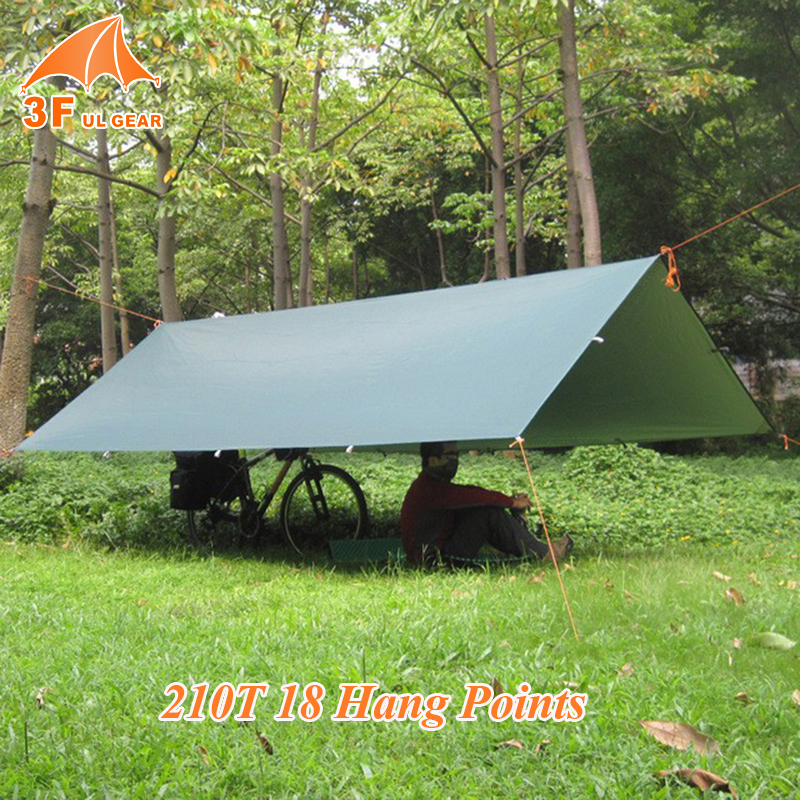 3F UL GEAR Ultralight Beach Sun Shelter Multifunction Tarp With Silver Waterproof Outdoor Camping C Tent Tarps Awning Shelter 2 1 5m outdoor tarp sun shelter high quality awning camping